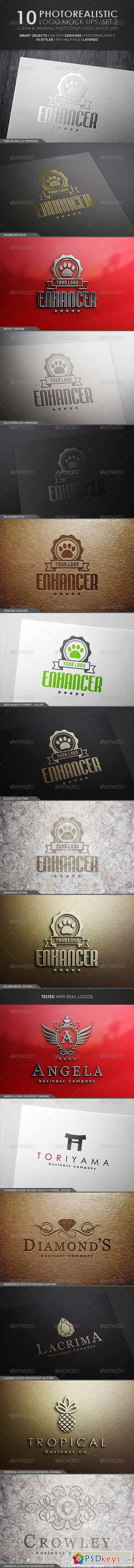 10 Photorealistic Logo Mock-Ups Set 2 4973414