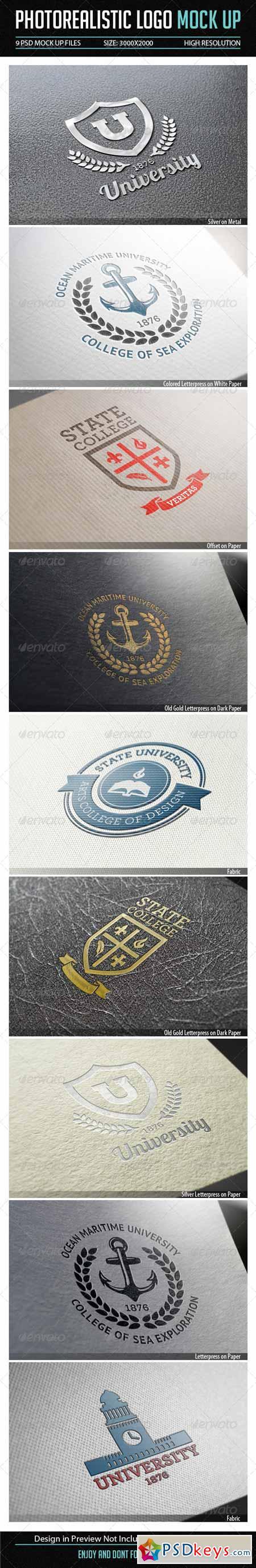Photorealistic Logo Mock Up 7864572