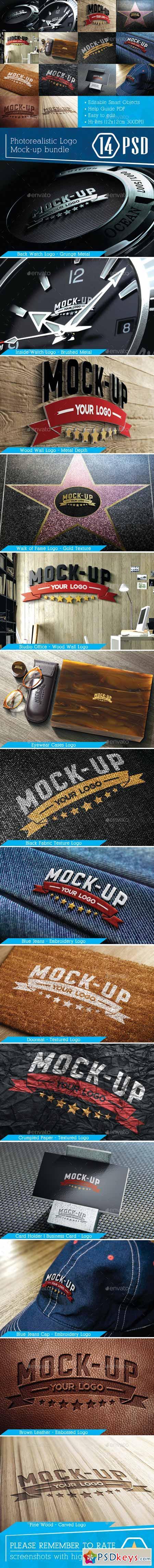 Photorealistic Logo Mock-Up Bundle 8853555