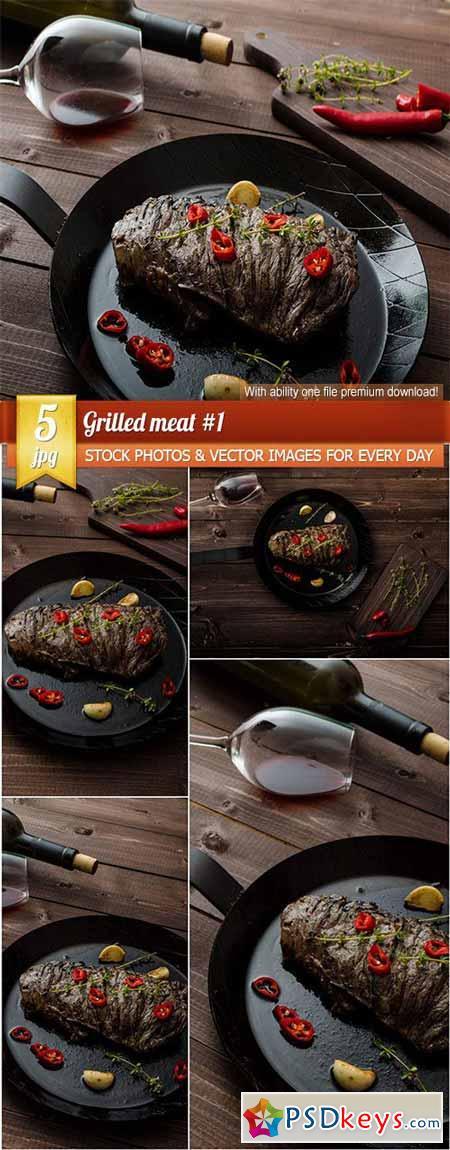 Grilled meat #1, 5 x UHQ JPEG