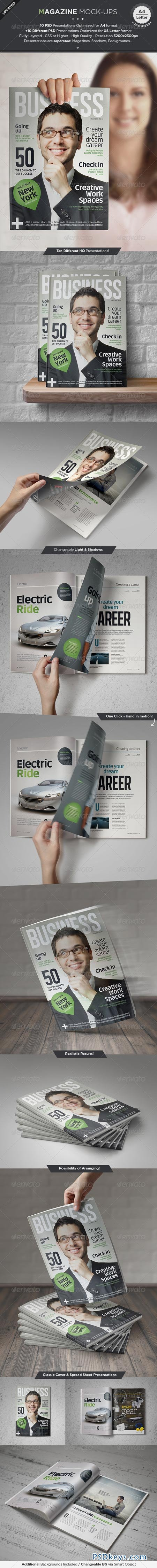 Magazine Mock-Up Set Graphicriver