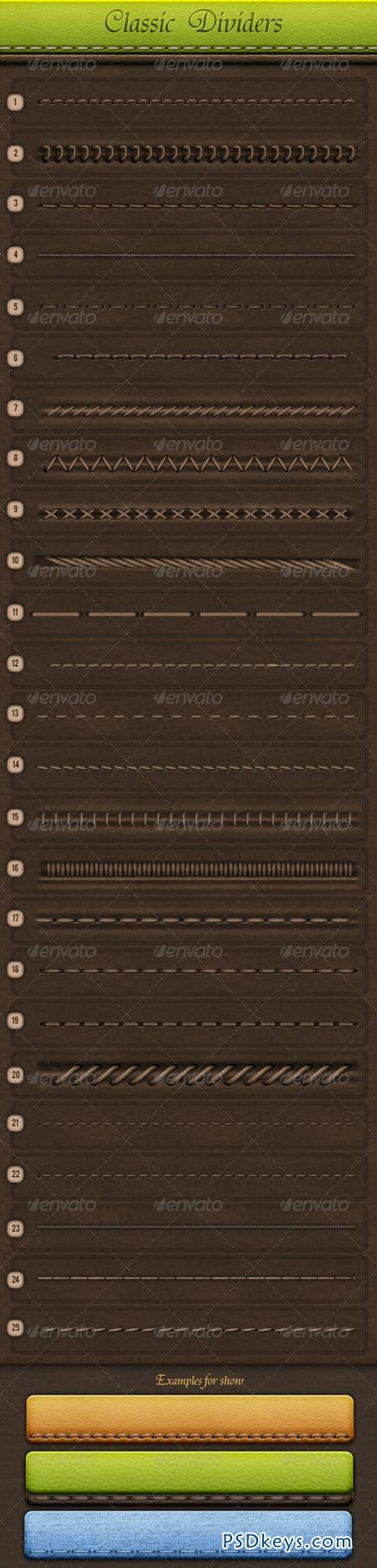 Classic Dividers GraphicRiver