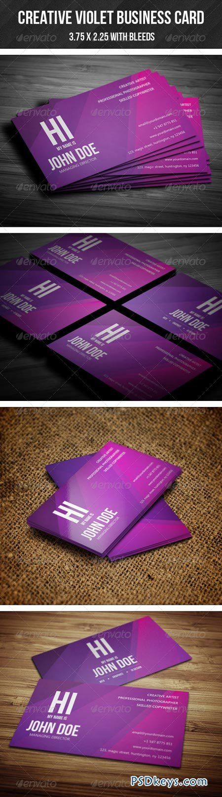 Creative Violet Business Card 02 GraphicRiver