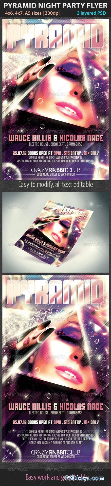 Pyramid Night Party Flyer 2755950