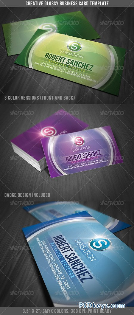 Creative Glossy Business Card 2763858