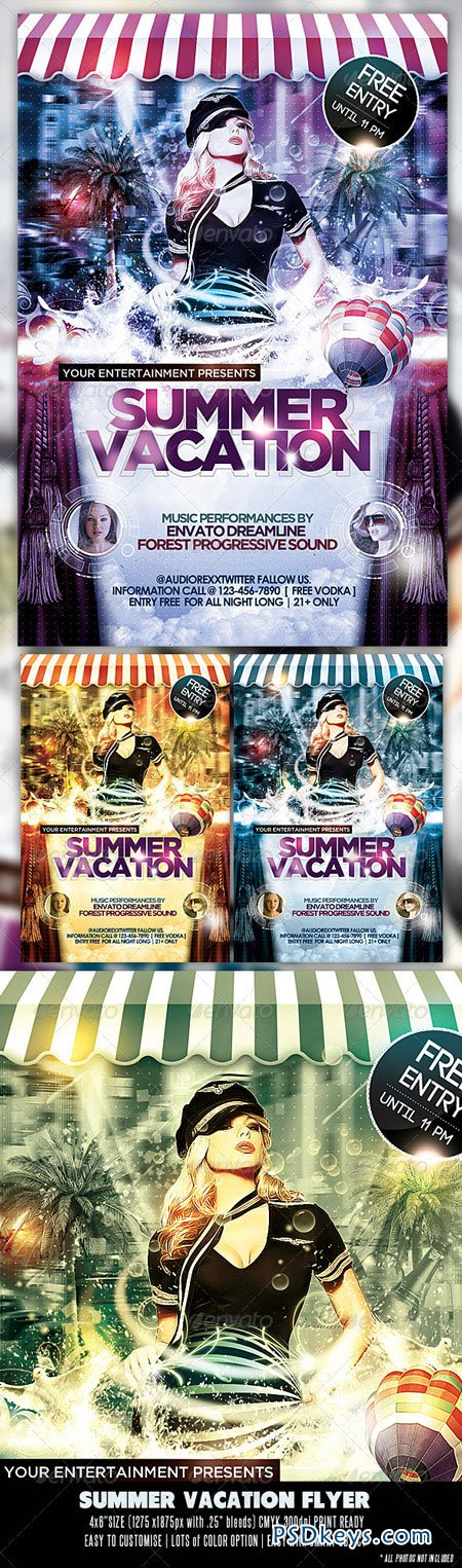 Summer Vacation Party Flyer 2650759