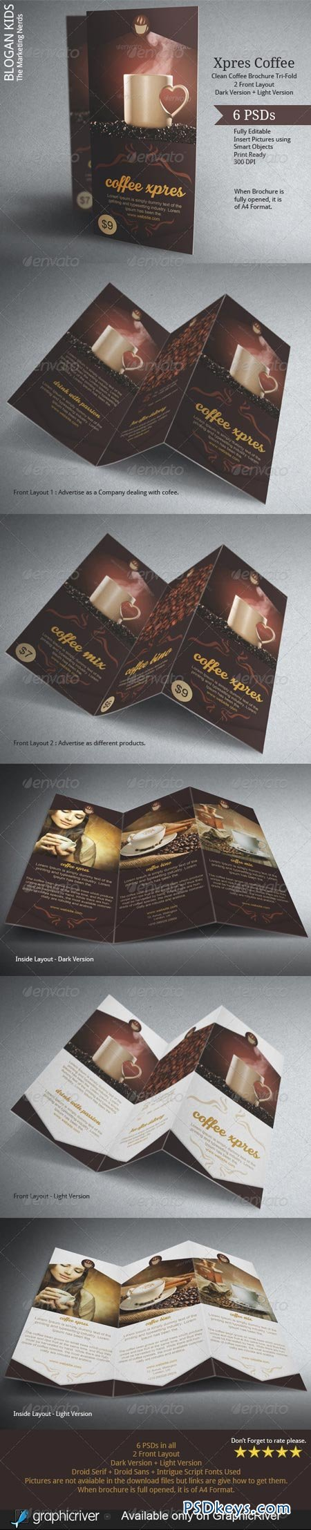 Coffee Brochure Template Tri-Fold 6278049