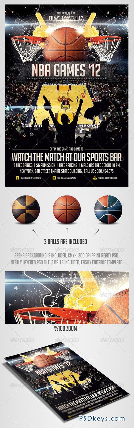 basketball flyer template free - basketball sports flyer template 2561828 free download