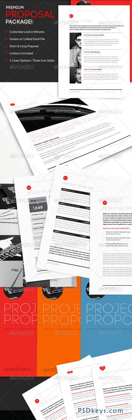 Wireframe Proposal Template Invoice & Contract 544155