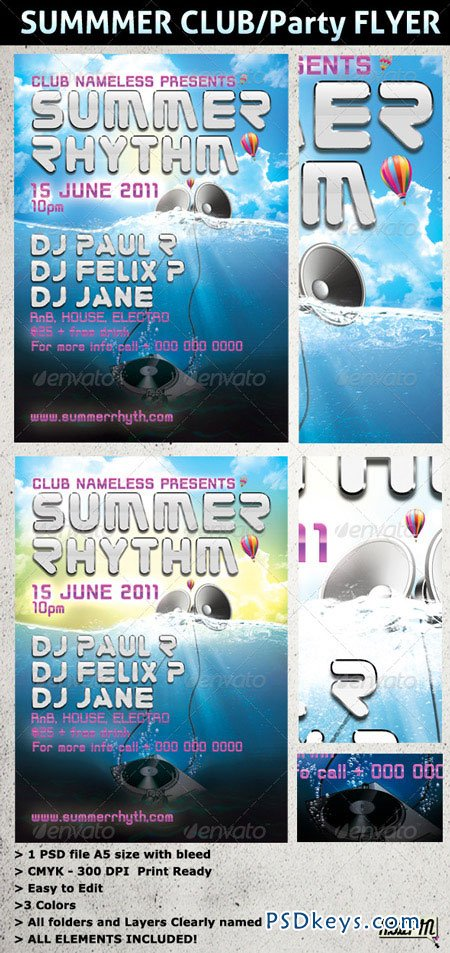 SUMMER PARTY and CLUB Flyer Template 226839