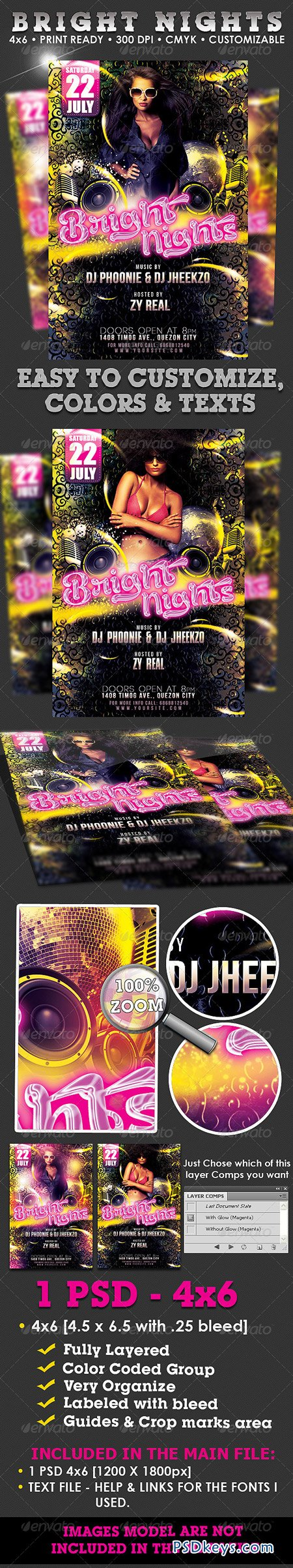 Bright Nights Flyer Template 1935401