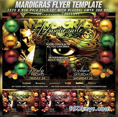 Mardigras Masquerade Flyer Template 1539200