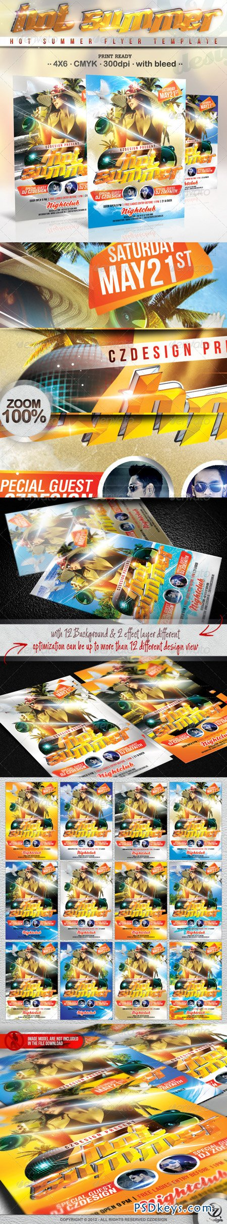 Hot Summer Flyer Template 2361264