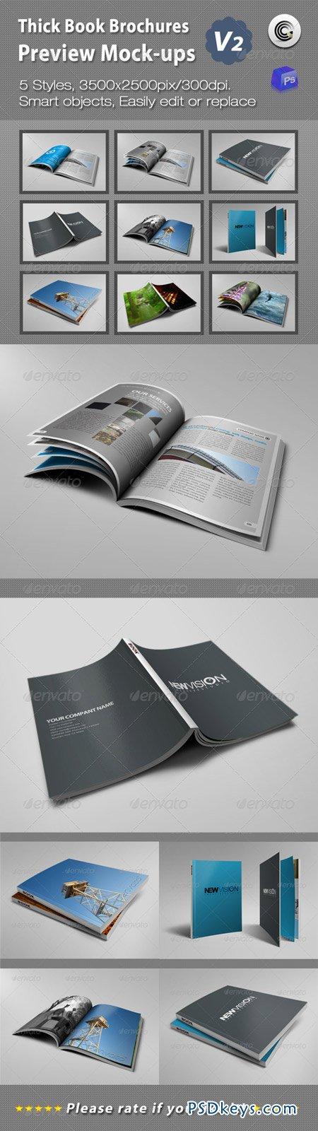 Thick Book Brochures Preview Mock-Ups V2 1866029