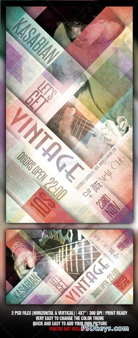 Vintage Flyer Template 808178