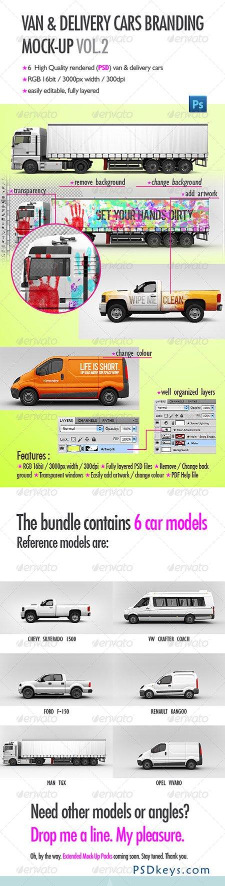 Van & Delivery Cars Branding Mock-Up Vol 2 2788070