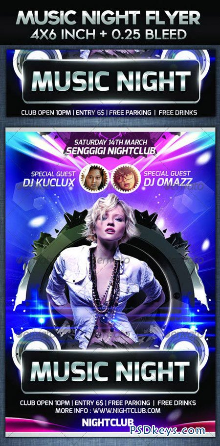 Music Night Party Flyer Template