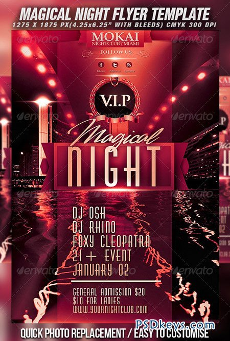 Magical Night Flyer Template 870611