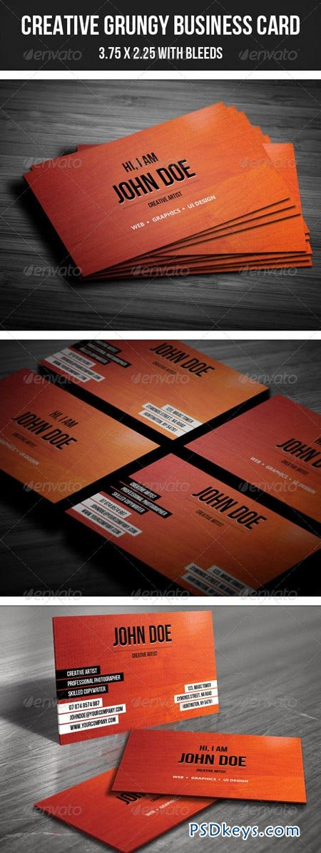 Creative Grungy Business Card 26 2730836