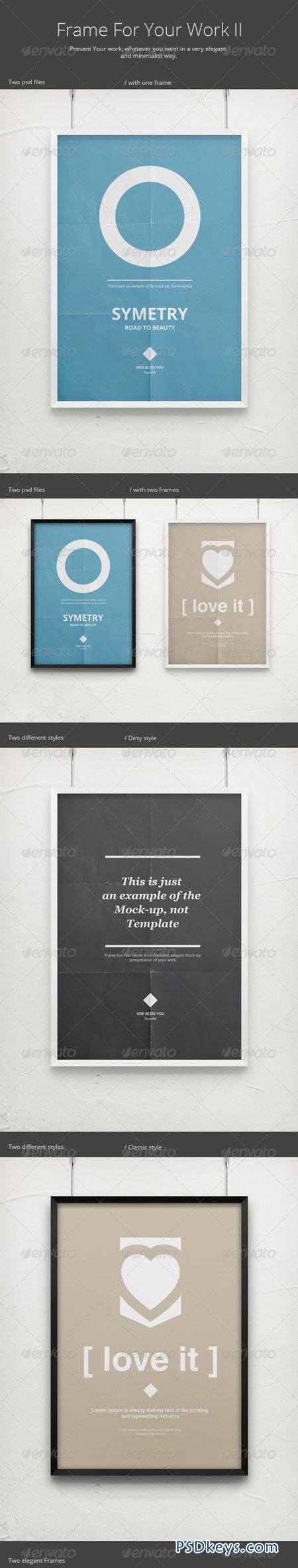Frame For Your Work II Poster Mock-Up 2800509