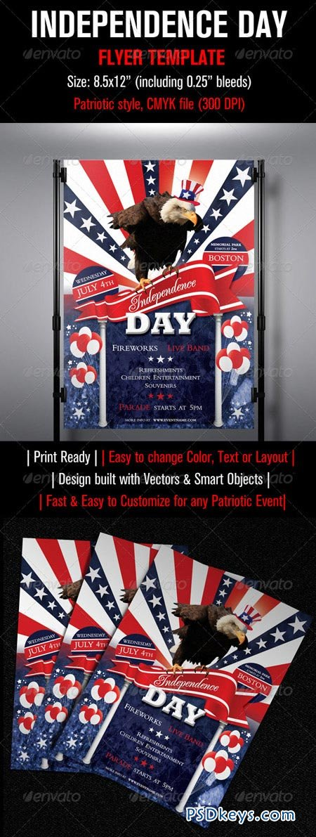 Independence Day Flyer Template   Free Download Photoshop