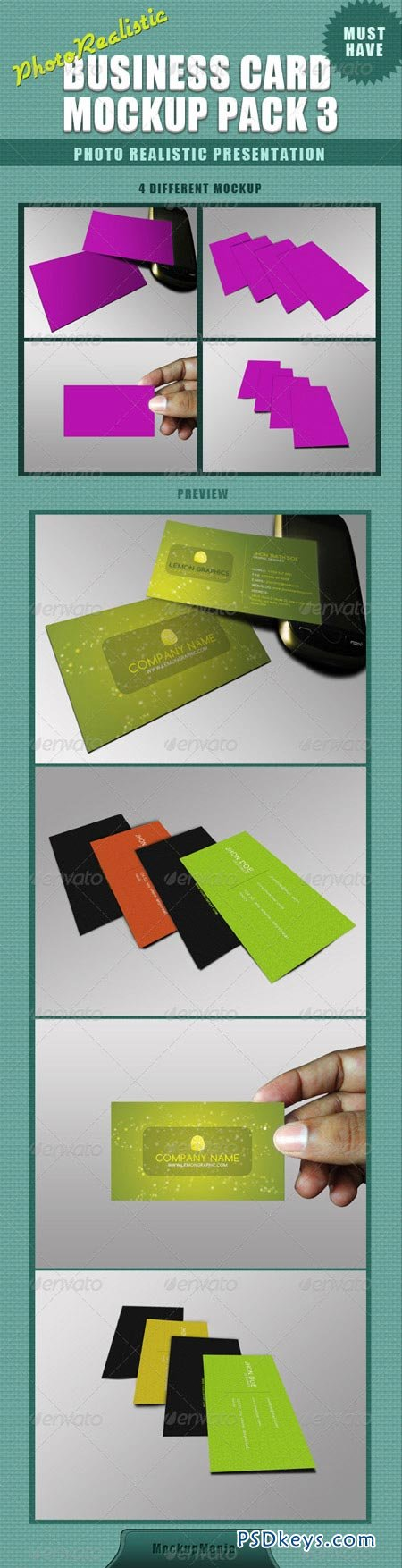 Photorealistic Business Card Mockup 3 2456916