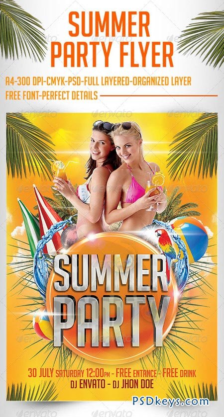 Summer Party Flyer Templates 2729145