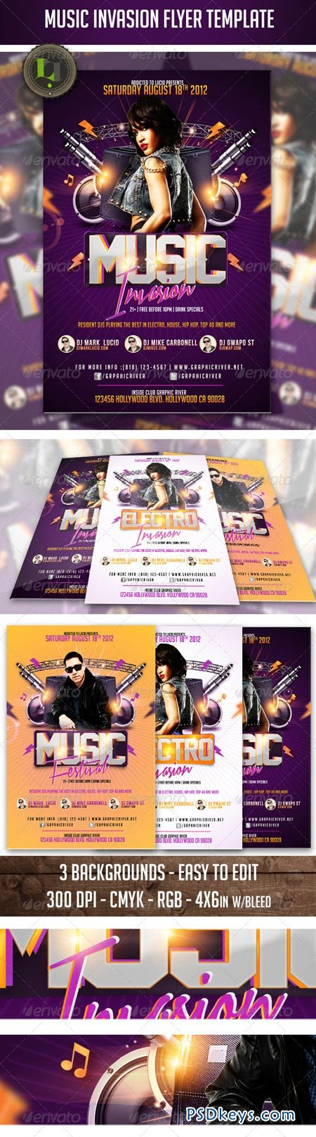 Music Invasion Flyer Template 2729203