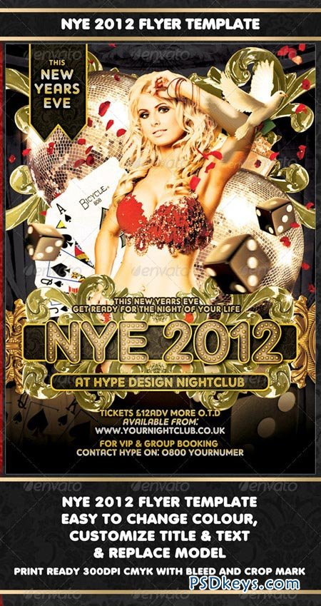 NYE 2012 Flyer Template 925807