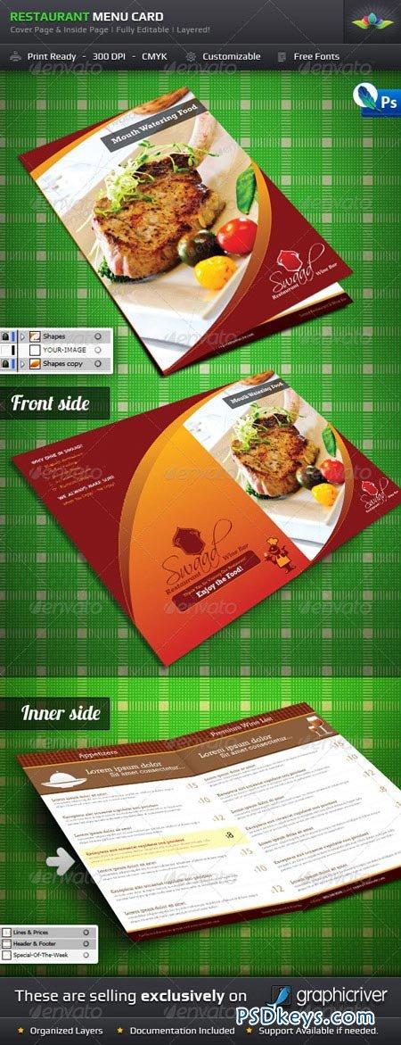 Restaurant Menu Card 223241