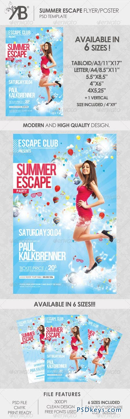 Summer Escape Poster Flyer 2079025
