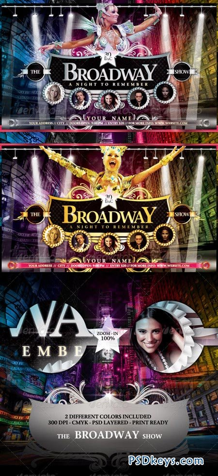 The Broadway Show Flyer Template 944028