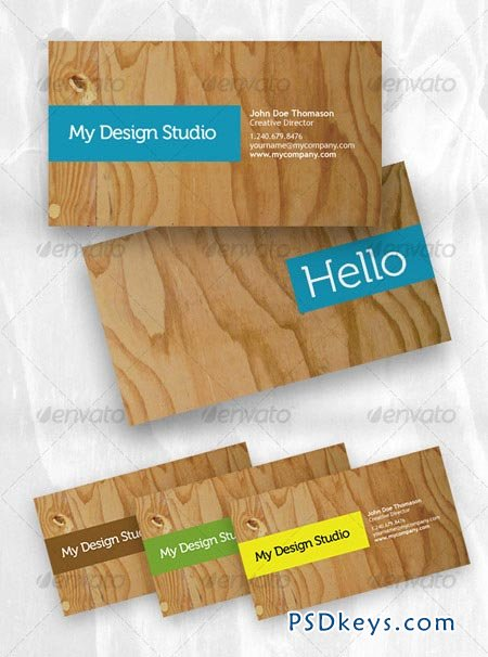 Designer business card plywood style 55787