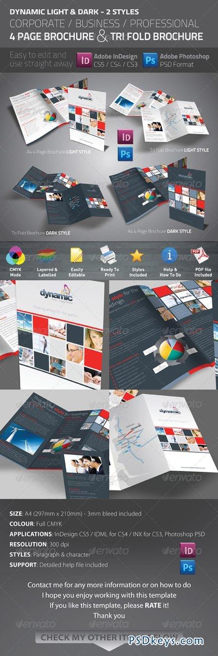 Dynamic 4 Page Brochure & Tri Fold 273670
