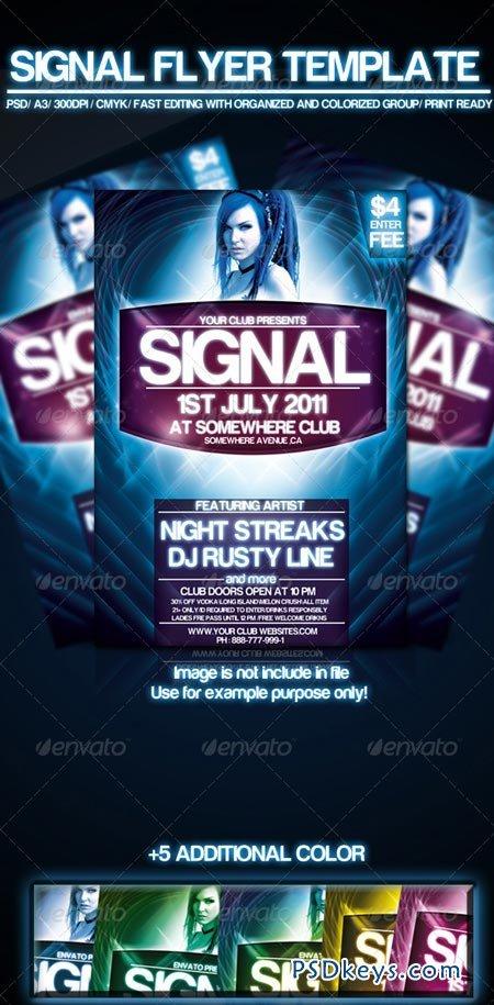 Signal flyer template 243547