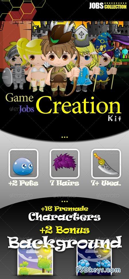 Game Jobs Mascot Creation Kit 2944842