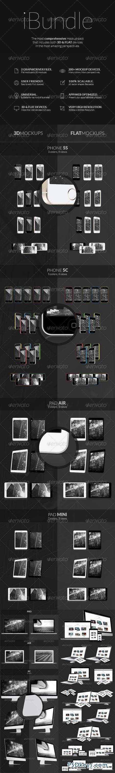 iBundle - 200 Responsive Screen Mockups 6253160