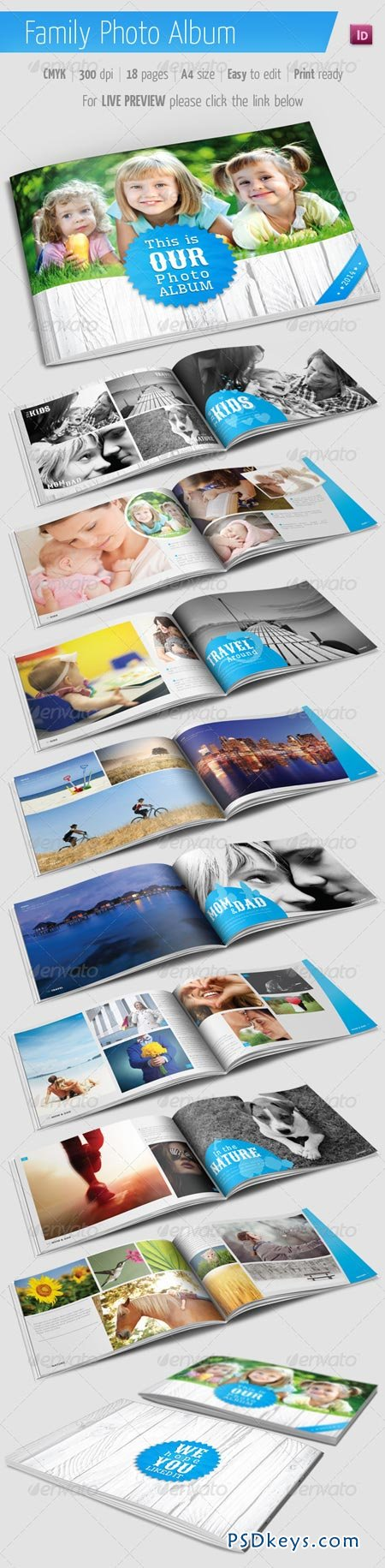Family Photo Album for Indesign 5748172 » Free Download Photoshop ...