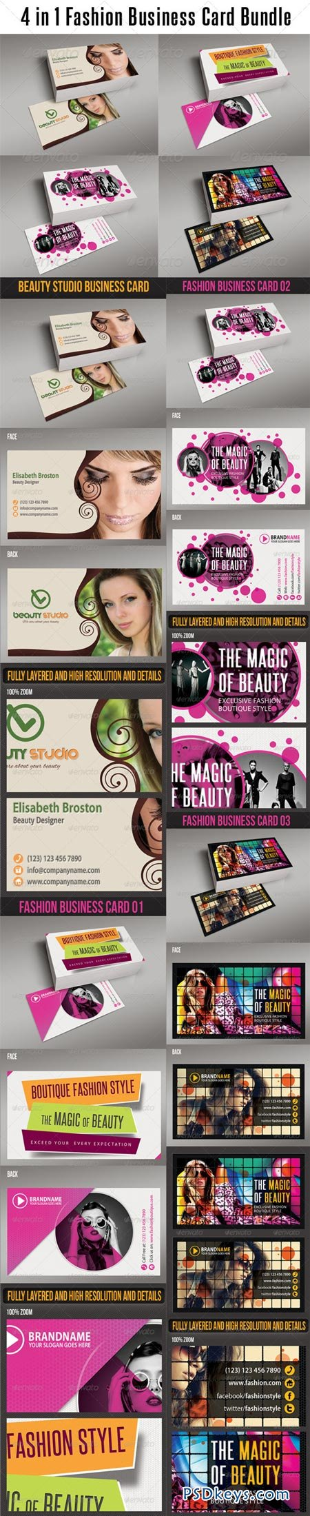 4 in 1 Fashion Business Card Bundle 6257751