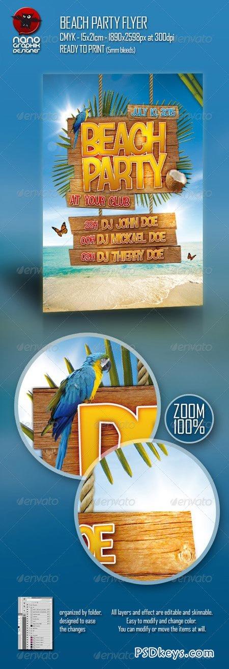 Beach Party Flyer 158970