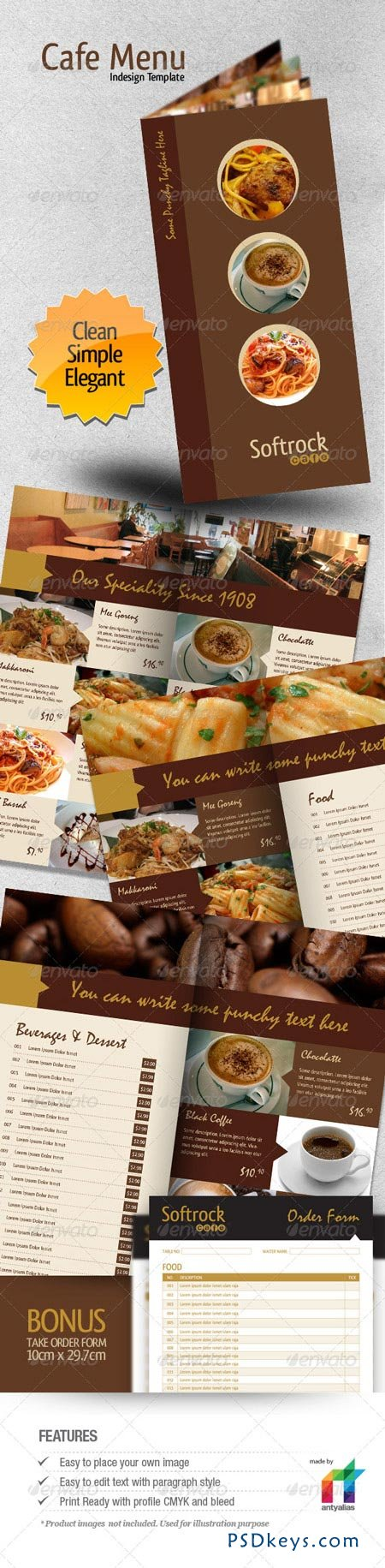 cafe menu indesign template 147838 free download photoshop vector stock image via torrent. Black Bedroom Furniture Sets. Home Design Ideas