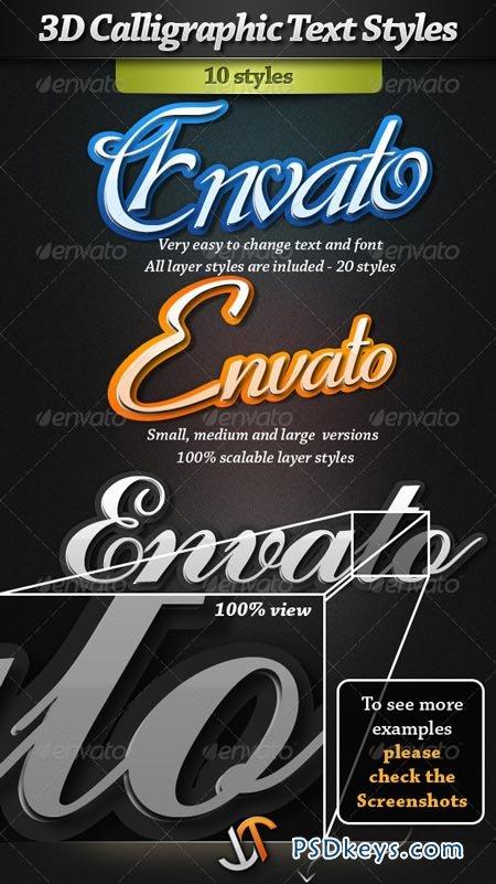 3D Calligraphic Text Styles 161794