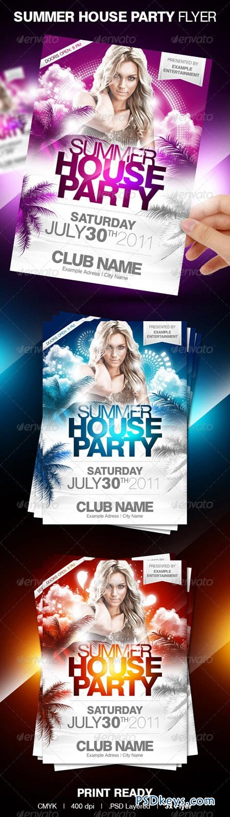 Summer House Party Flyer 148840