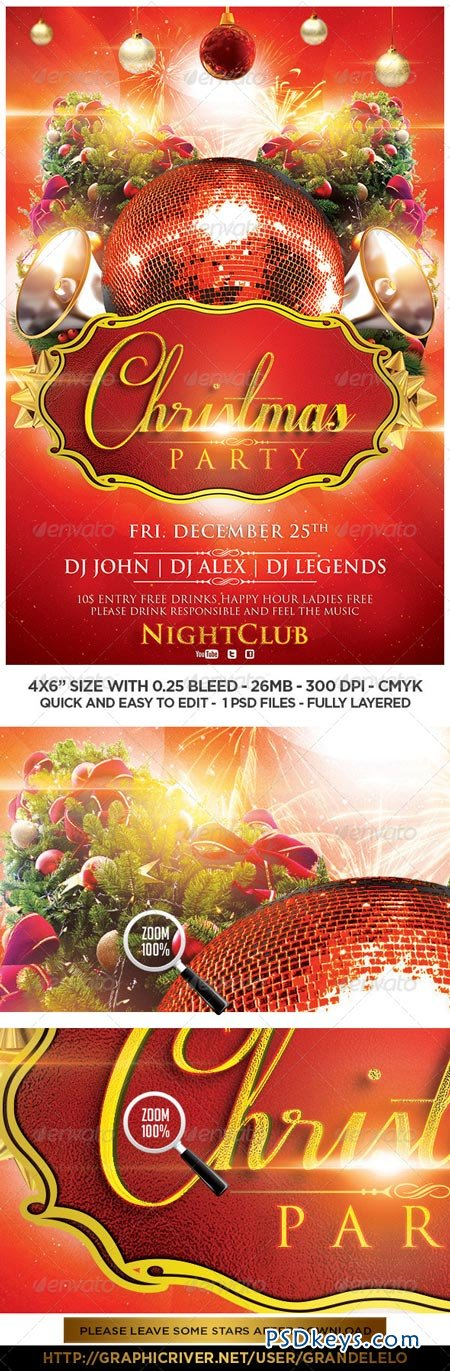 Christmas Flyer Template 6213862 » Free Download Photoshop Vector