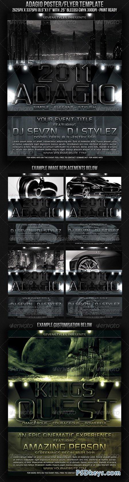 Adagio Poster Flyer Template 151538
