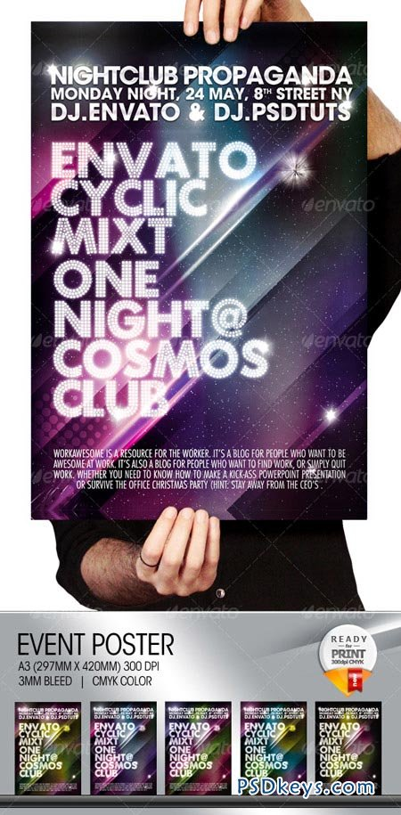 Cosmos Summer Party Nightclub Poster & Flyer 102722
