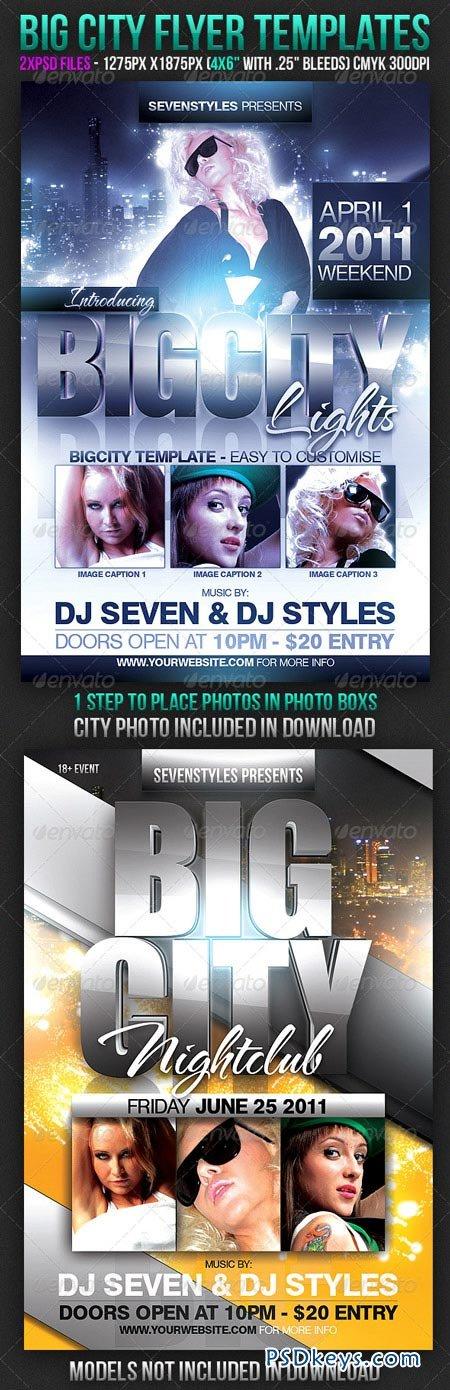 Big City Flyer Templates 166840