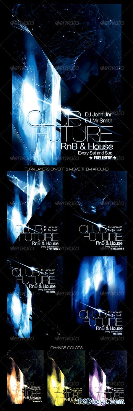 Futuristic Club Flyer 99240