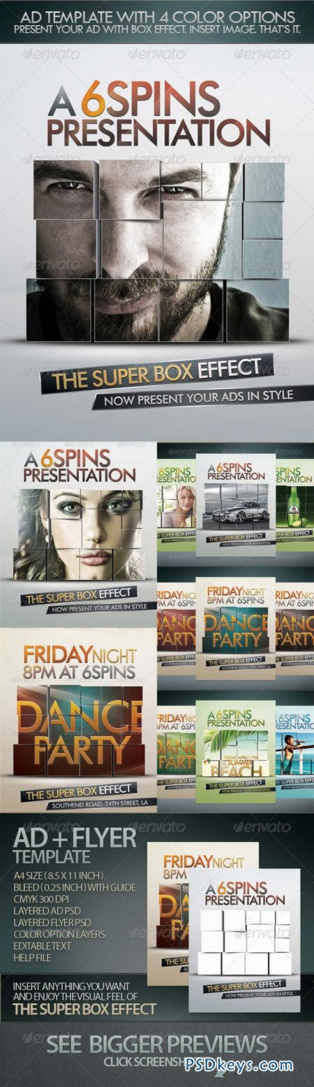Ad And Party Flyer Template With Super Box Effect 168435
