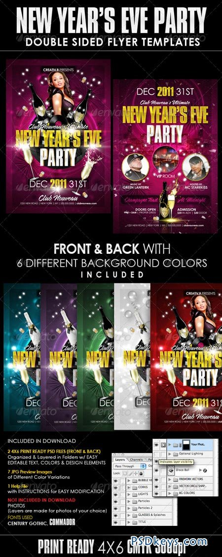 New Years Eve Party Flyer Templates 1122760